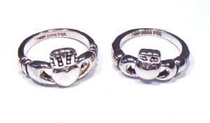Buffy & Angel CLADDAGH Ring Set The Vampire Slayer